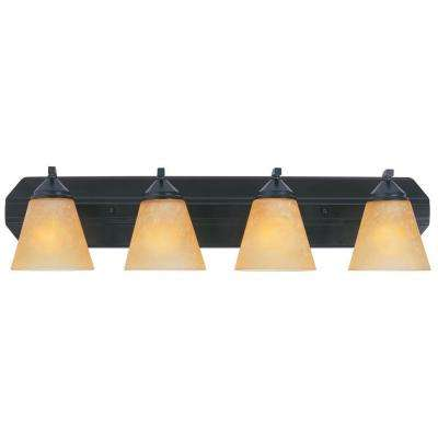 Holland Collection 4-Light Oil Rubbed Bronze Wall Mount Vanity Light