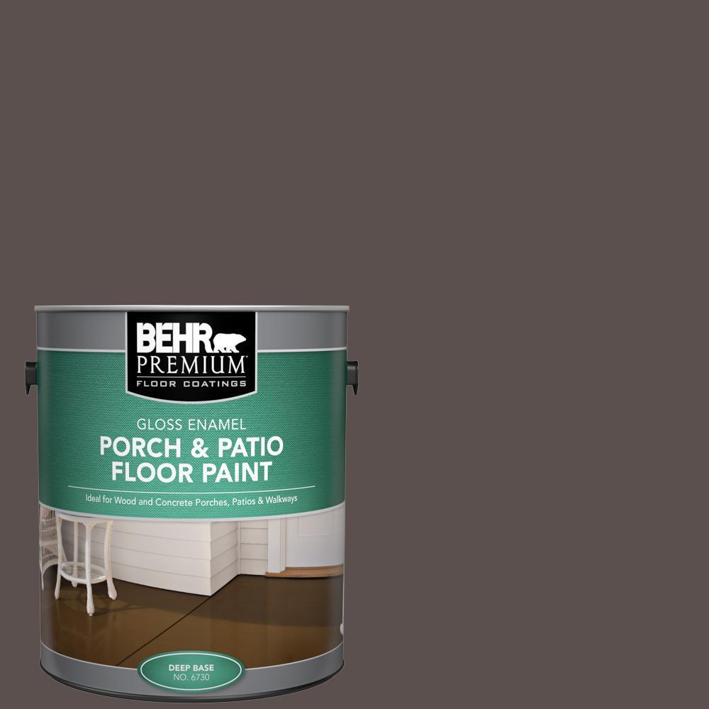 Behr Premium 1 Gal Ecc 12 3 Shadow Wood Gloss Enamel Interior