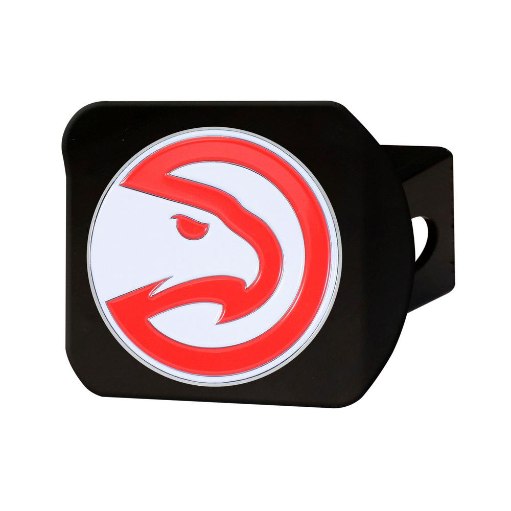 FANMATS NBA Atlanta Hawks Color Emblem on Black Hitch Cover