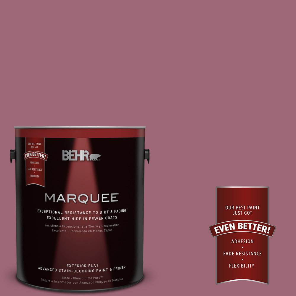 1-gal. #100D-5 Berries and Cream Flat Exterior Paint
