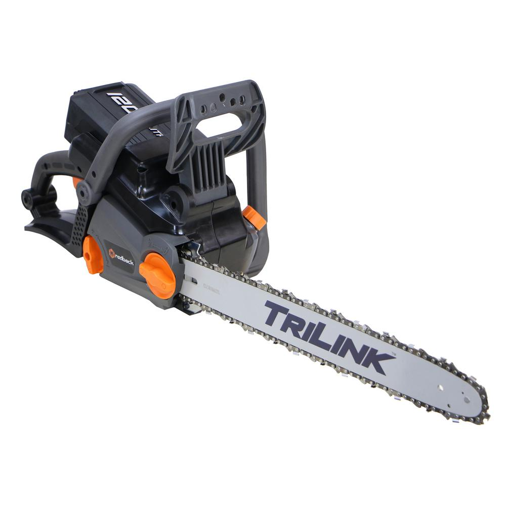 Redback 18 in 120 volt electric cordless chainsaw 106493 the home 120 volt electric cordless chainsaw greentooth Image collections