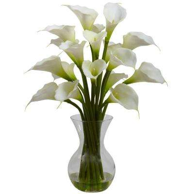 Galla Calla Lily with Vase Arrangement in Cream