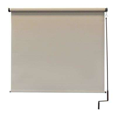 120 in. W x 96 in. L Coronado Elite PVC Fabric Outdoor Roller Shade Cordless Pole Operated