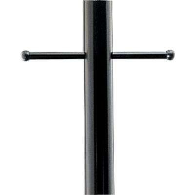 Black 7 ft. Exterior Lamp Post with Ladder Rest