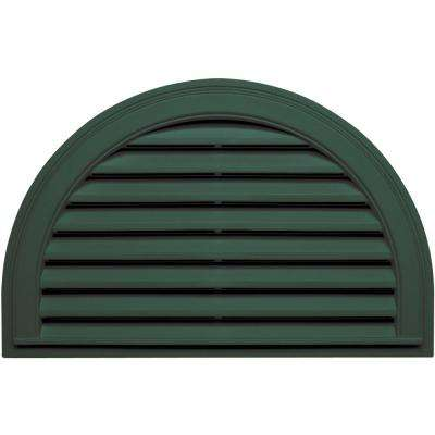 22 in. x 34 in. Half Round Gable Vent in Forest Green