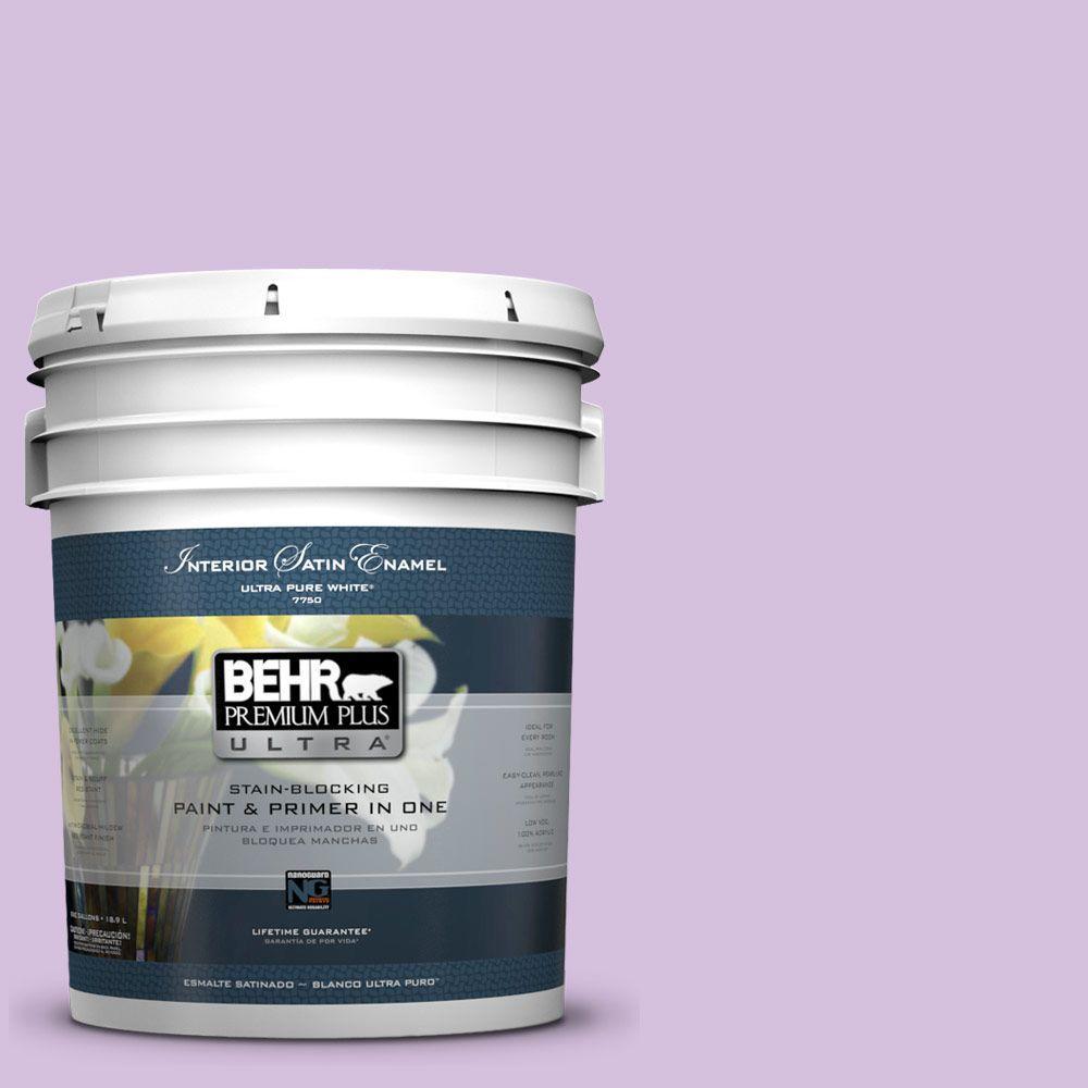 5-gal. #660A-3 New Violet Satin Enamel Interior Paint