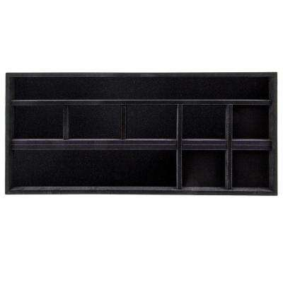 14 in. x 30 in. Black Jewelry Tray