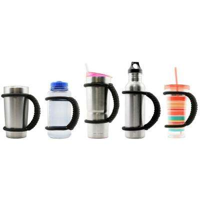 The Handie Black handle a great way to get a grip on your beverage containers