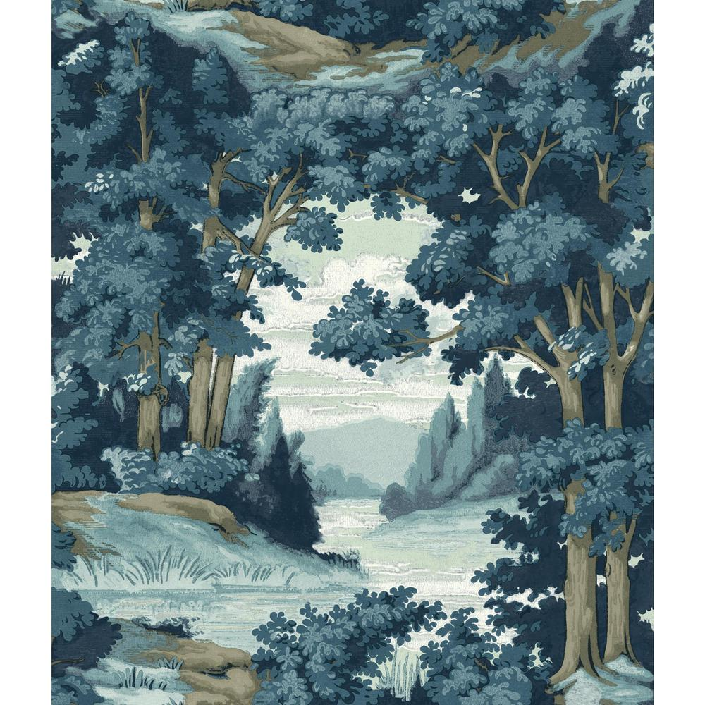 Forest Lake Fabric Home: York Wallcoverings 56 Sq. Ft. Tailored Forest Lake Scenic