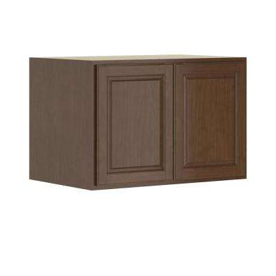 Madison Assembled 36x24x24 in. Wall Deep Cabinet in Cognac