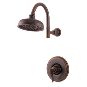 Ashfield 1-Handle Shower Faucet Trim Kit in Rustic Bronze (Valve Not Included)