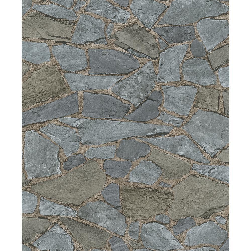8 in. x 10 in. Stanley Slate Stone Wallpaper Sample