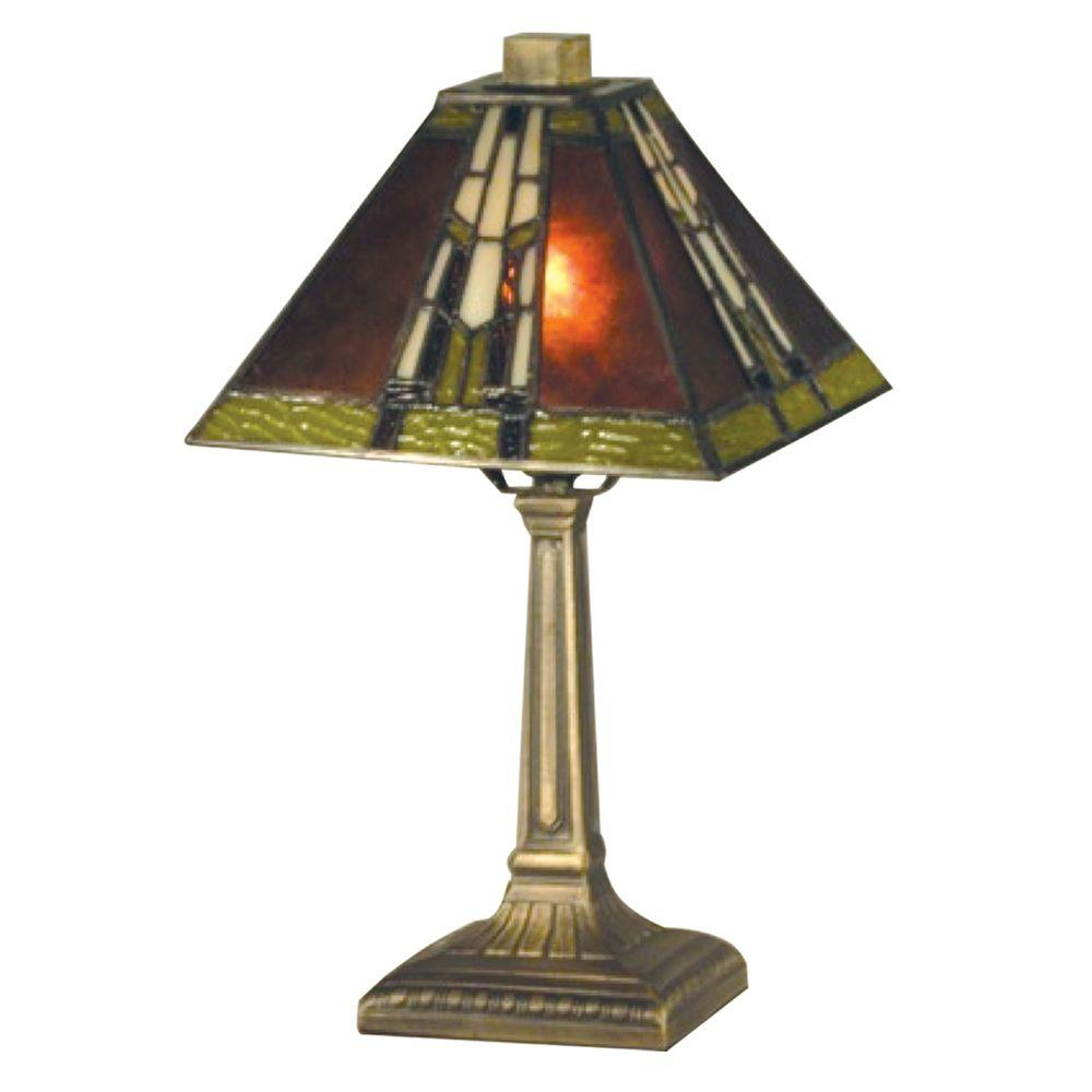 14.25 in. Charwood Mission Antique Bronze Accent Lamp
