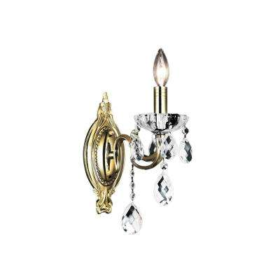 Flawless 1-Light Antique Brass Sconce