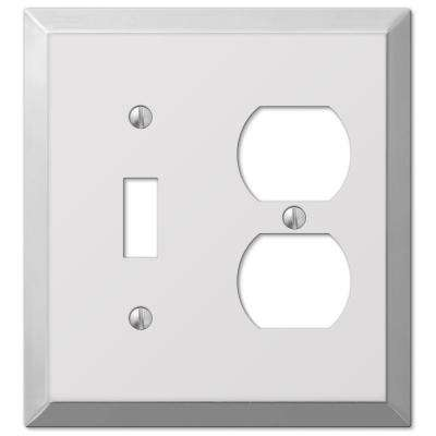 Century Steel 1 Toggle 1 Duplex Wall Plate - Chrome
