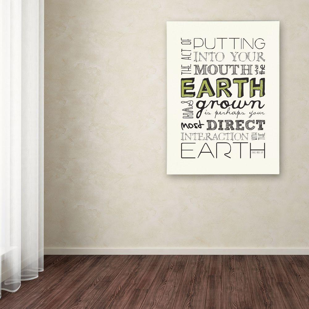 19 in. x 14 in. Interact with Earth Canvas Art