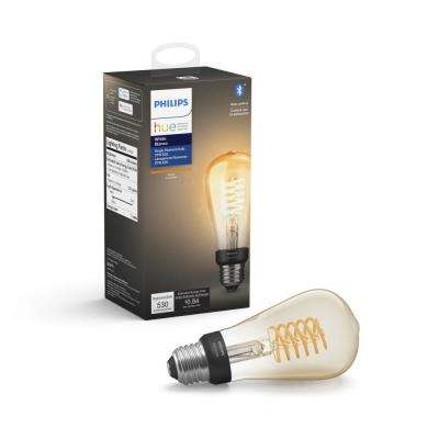 White ST19 LED 40W Equivalent Dimmable Wireless Edison Smart Light Bulb with Bluetooth