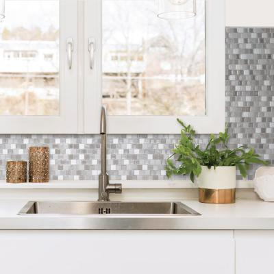 Brixia Casoria 10.20 in. W x 8.85 in. H Peel and Stick Self-Adhesive Decorative Mosaic Wall Tile Backsplash (4-Pack)
