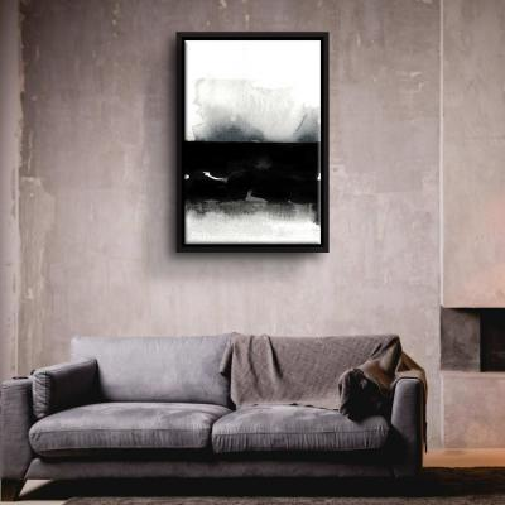 'BW 01' by  Iris Lehnhardt Framed Canvas Wall Art