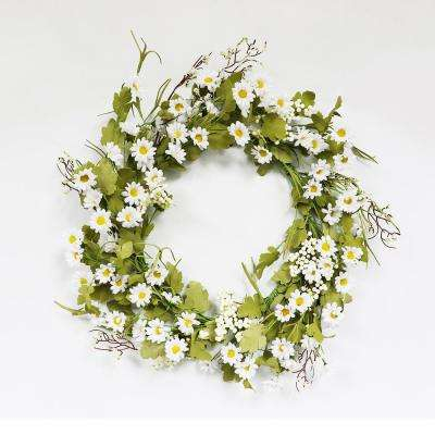22 in. Wreath with Daisy's