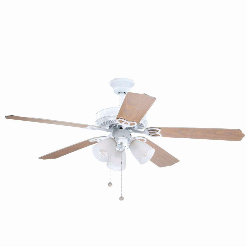 Brookhurst 52 In Led Indoor White Ceiling Fan With Light
