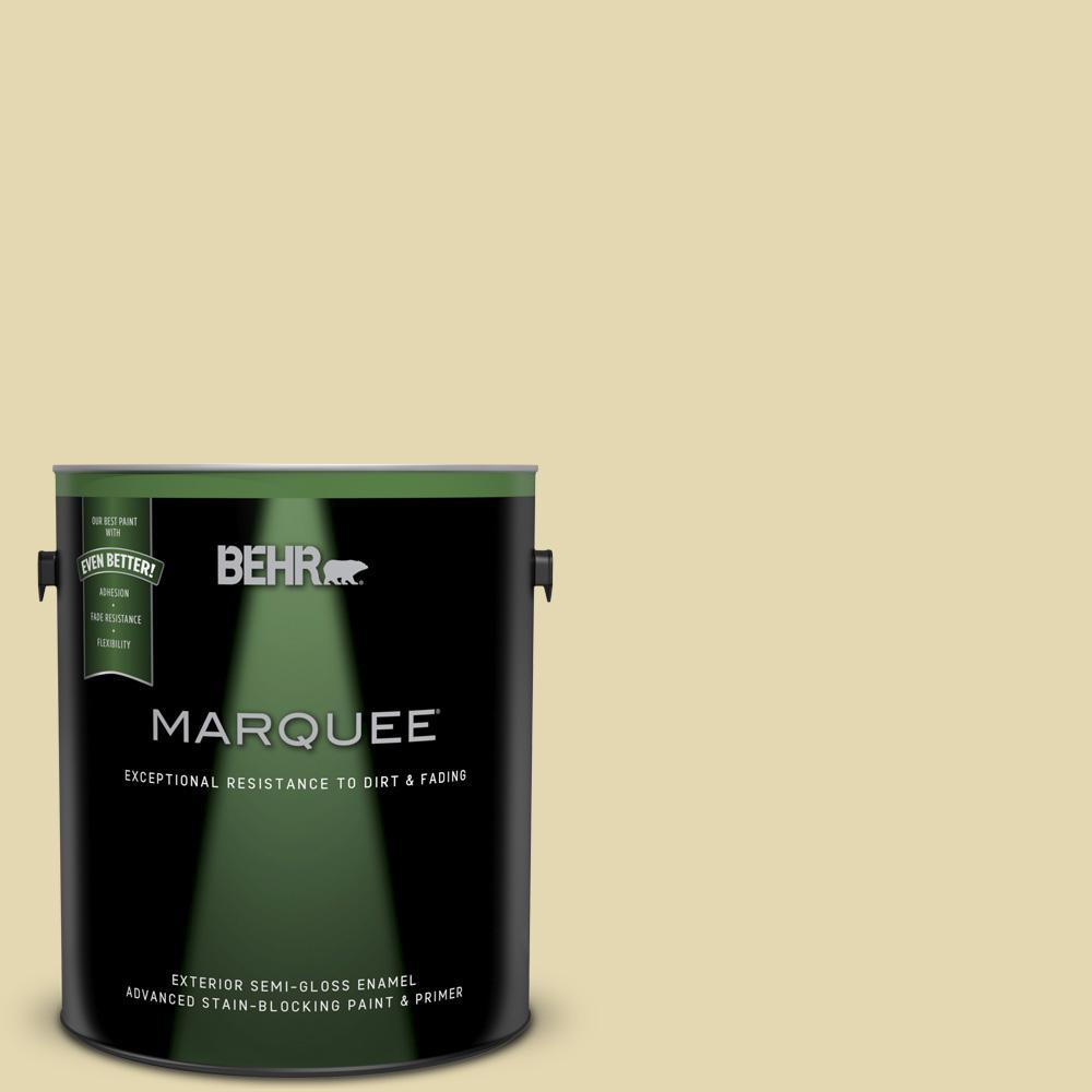 1 gal. #MQ3-42 Honey Mist Semi-Gloss Enamel Exterior Paint