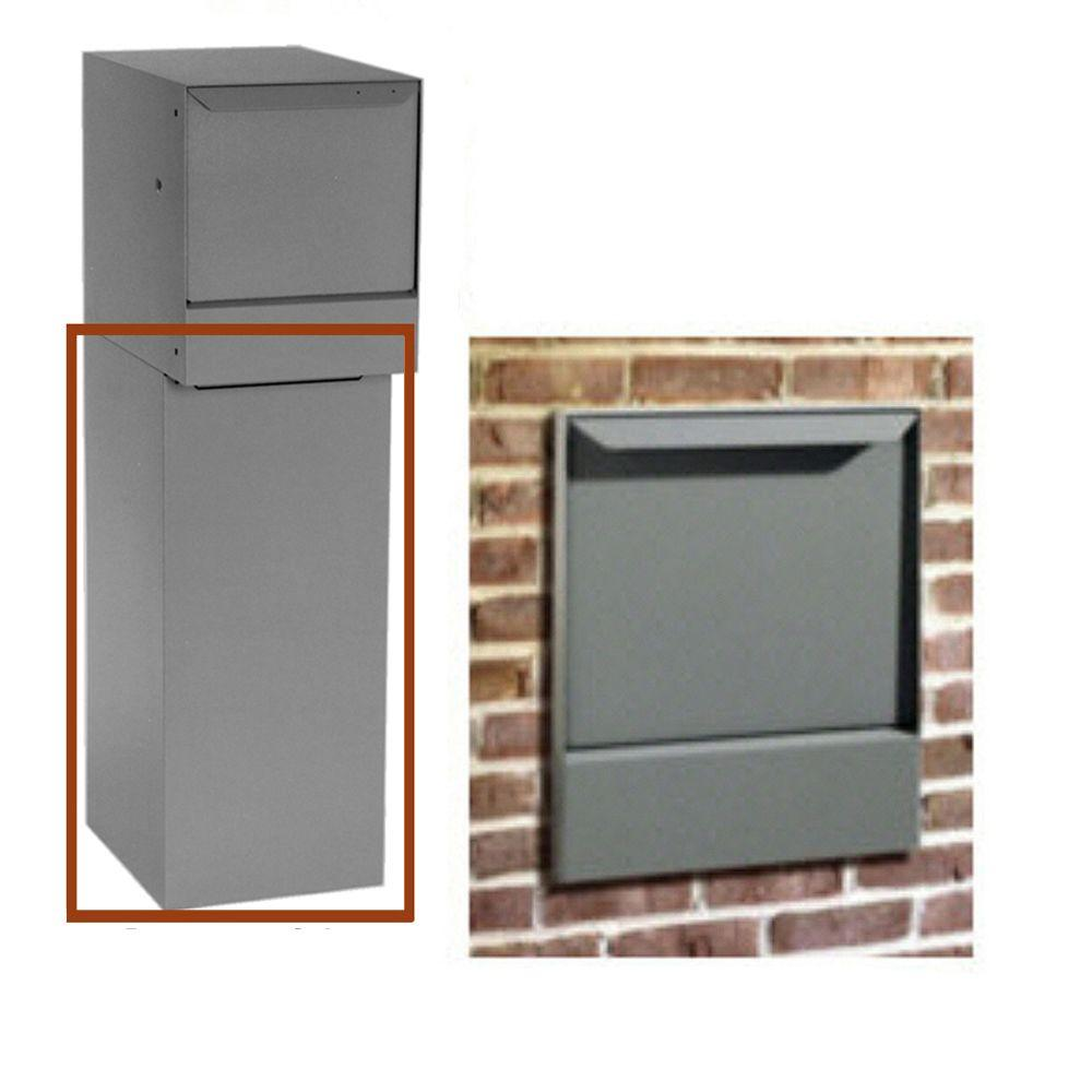 Dvault Gray Wall Mount Bottom Hold Locking Mailboxes