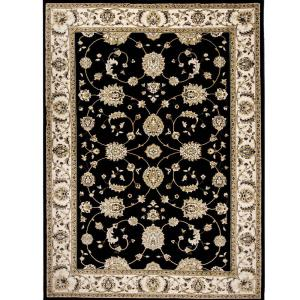Home Dynamix Bazaar Floral Heirloom Black/Ivory 7 ft. 10 inch x 10 ft. 2 inch Indoor Area... by Home Dynamix