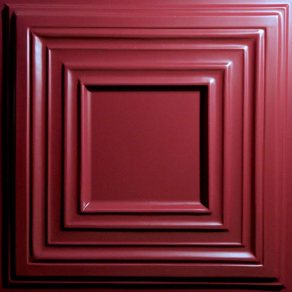 Bistro Merlot 2 ft. x 2 ft. Lay-in or Glue-up Ceiling