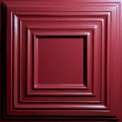 Bistro Merlot 2 ft. x 2 ft. Lay-in or Glue-up Ceiling Panel (Case of 6)