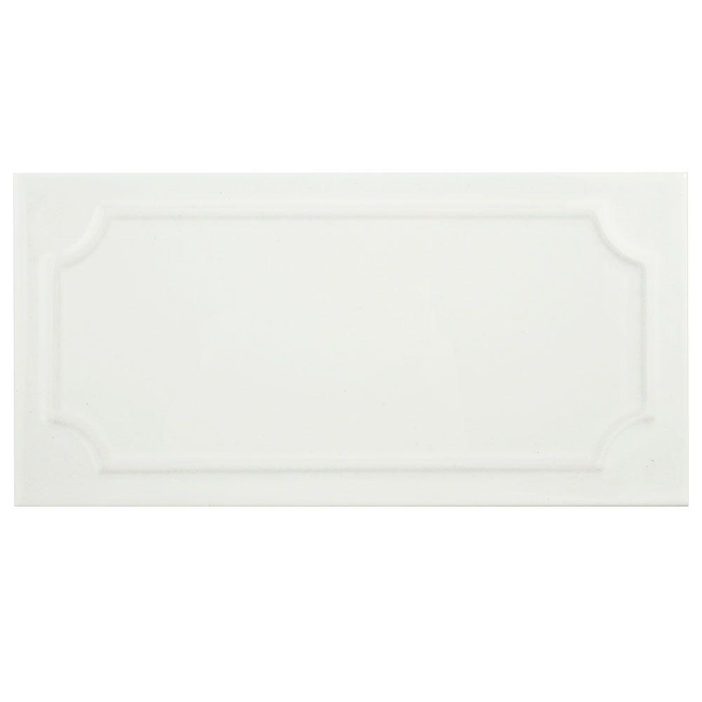 4x8 ceramic tile tile the home depot santorini blanco 4 in x 8 dailygadgetfo Image collections