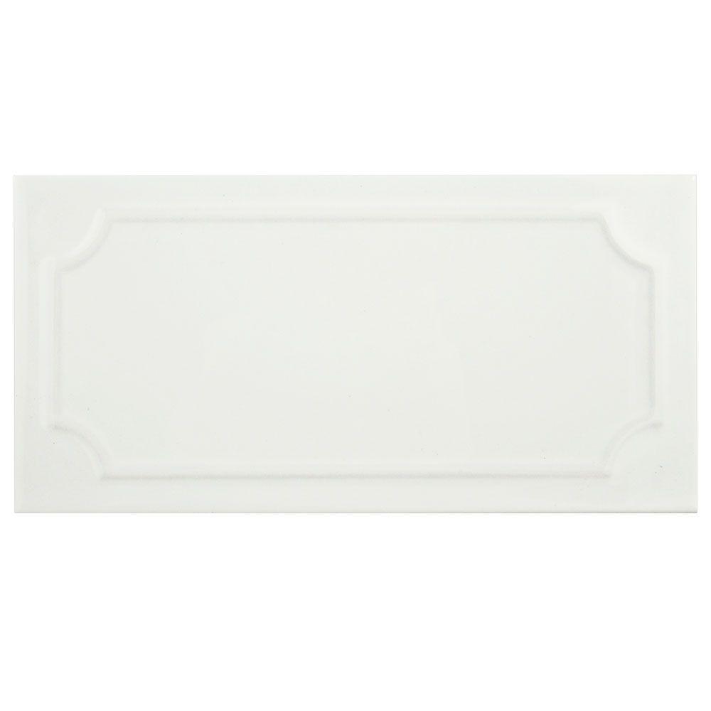 MerolaTile Merola Tile Santorini Blanco 4 in. x 7-7/8 in. Ceramic Wall Tile (12 sq. ft. / case), Blanco/High Sheen