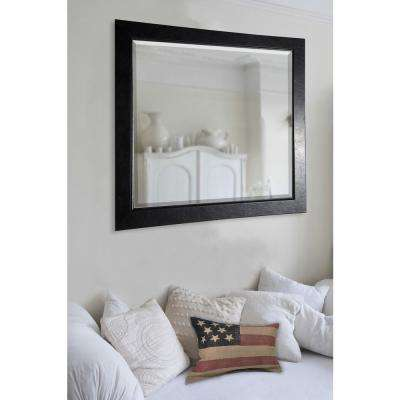 41 in. x 35 in. Black Superior Rounded Beveled Wall Mirror