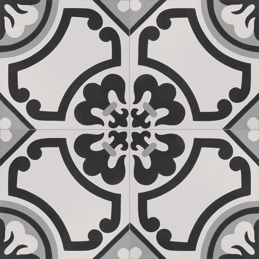 InDesign Cementine Lily 16 in. x 16 in. Durabody Ceramic Floor and Wall Tile (17.22 sq. ft. / case)