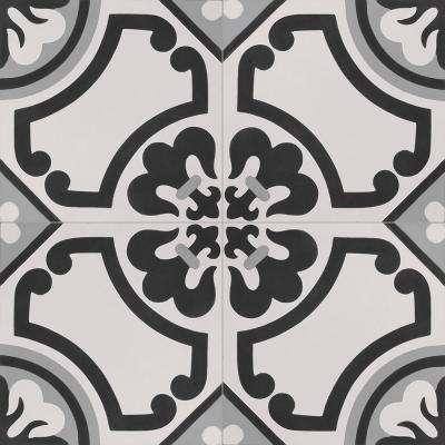 Cementine Lily 16 in. x 16 in. Ceramic Floor and Wall Tile (17.22 sq. ft. / case)