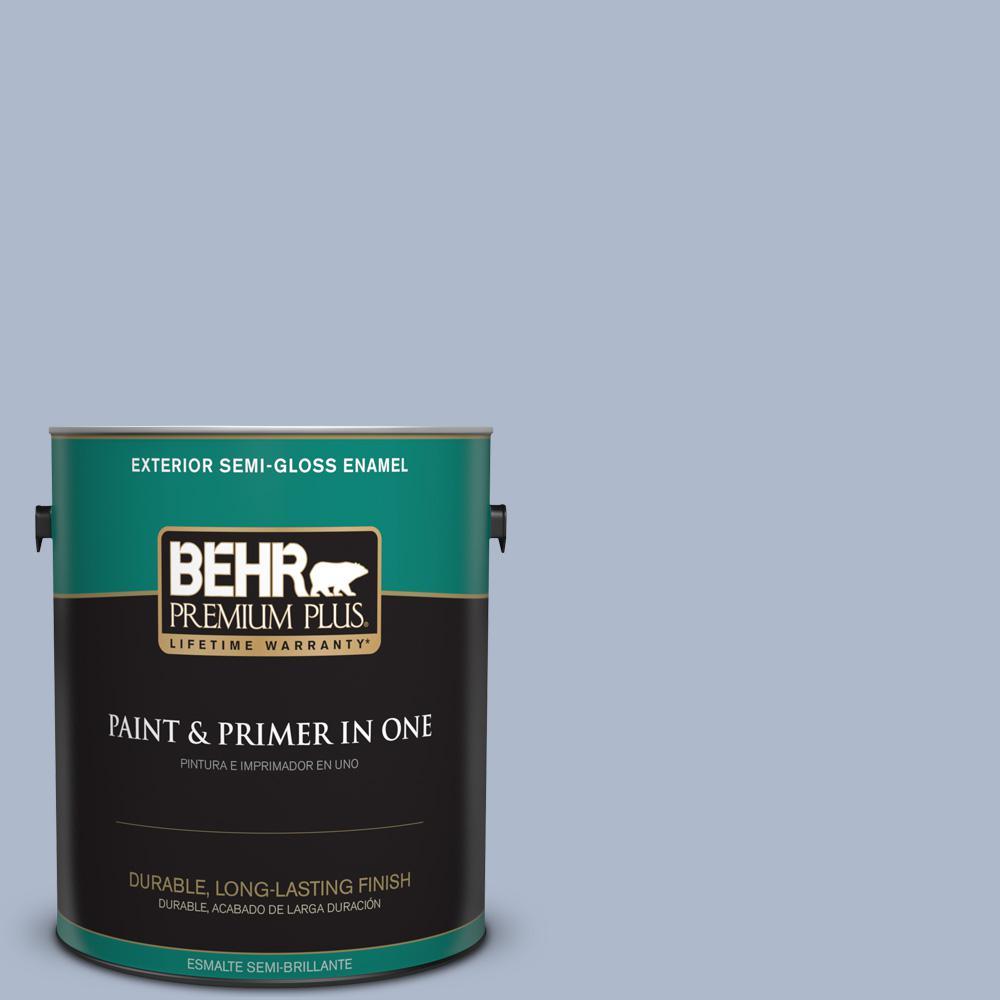 1 gal. #PPU15-16 Simply Blue Semi-Gloss Enamel Exterior Paint