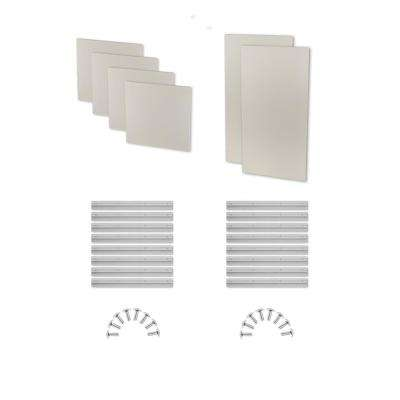 1 in. H x 24 in. W x 48 in. L (2-Pack) and 1 in. H x 24 in. W x 24 in. L Stone Fabric Absorb Plus Diffuse Panel (4-Pack)
