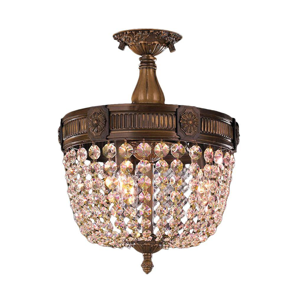 Worldwide lighting winchester 3 light antique bronze and golden teak worldwide lighting winchester 3 light antique bronze and golden teak crystal ceiling semi flush mount light aloadofball Choice Image