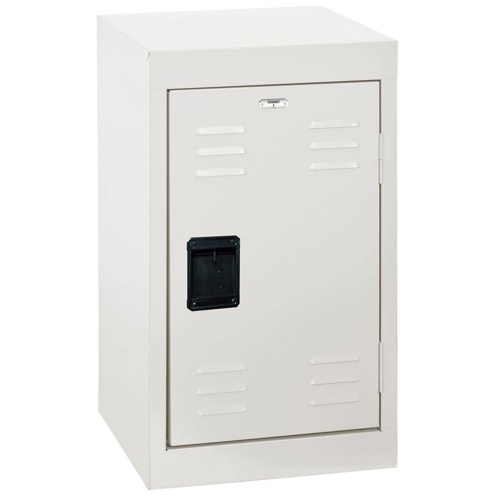 24 in. H Single-Tier Welded Steel Storage Locker in White