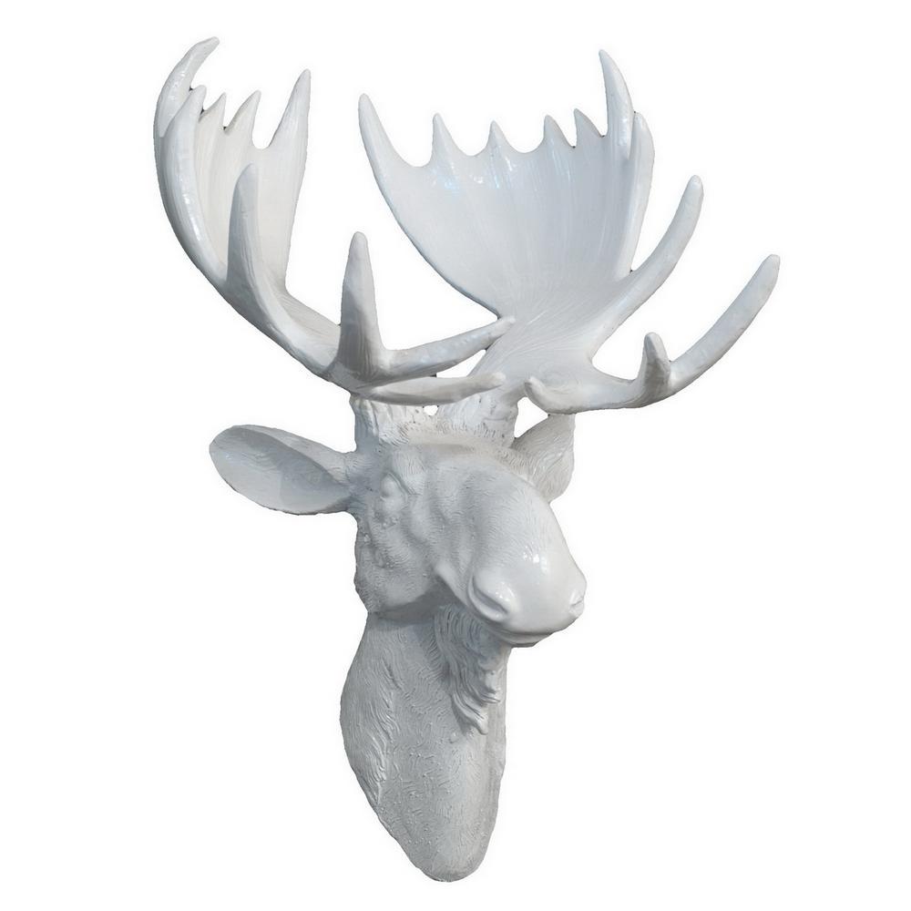 THREE HANDS Moose Head Wall Decor-25923 - The Home Depot