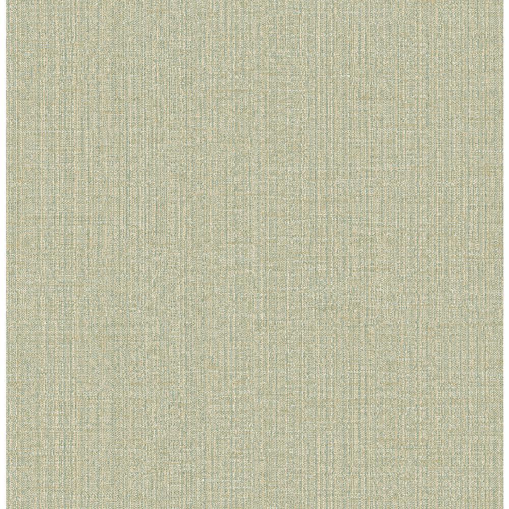 8 in. x 10 in. Chelsea Teal Weave Wallpaper Sample