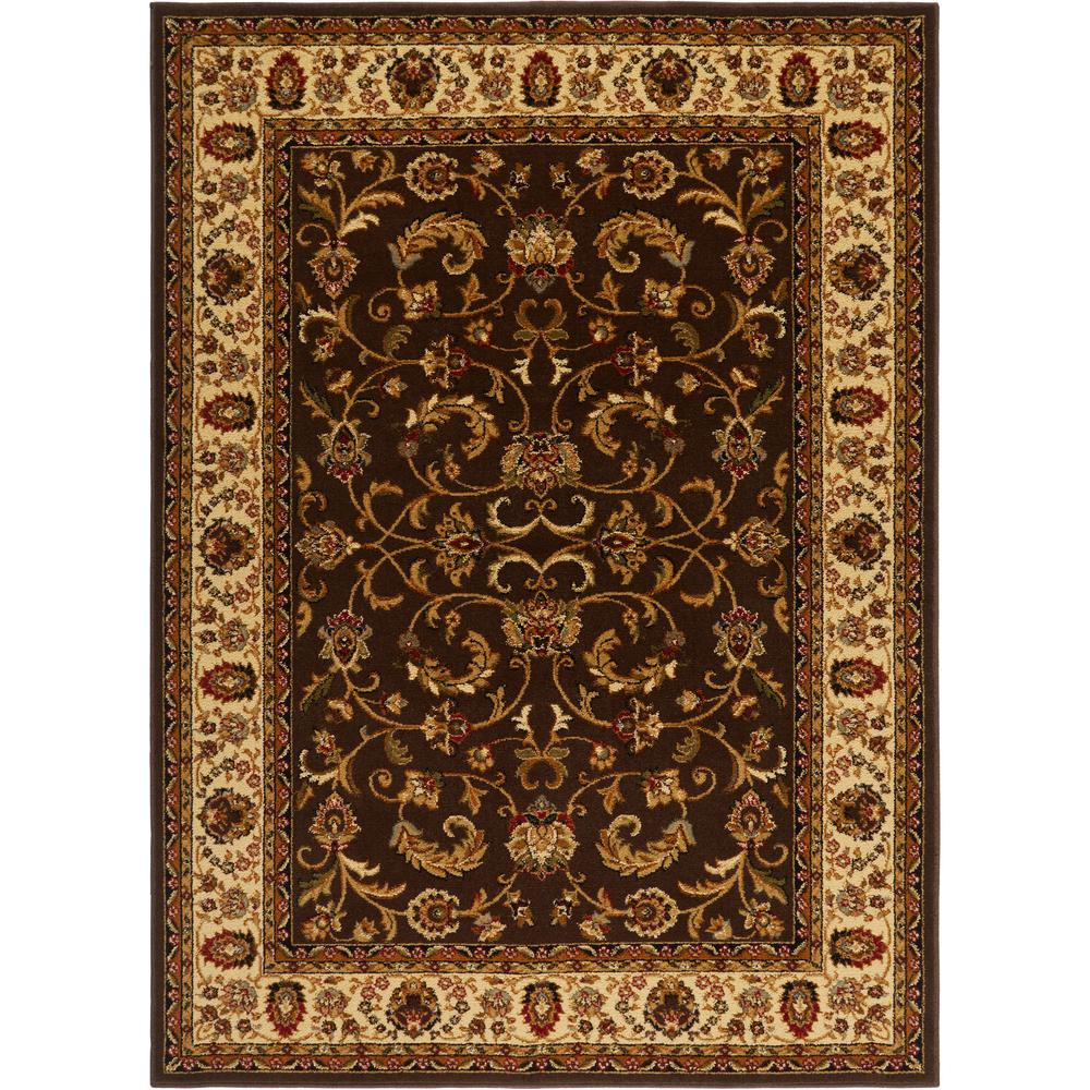 Home Dynamix Royalty Brown/Ivory 5 ft. x 7 ft. Indoor Area Rug