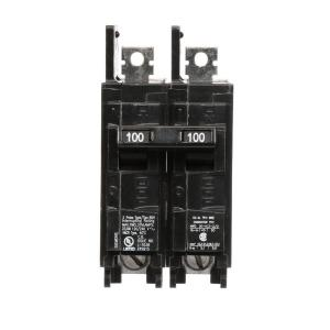 Siemens 100 Amp Double-Pole Type BQH 22 kA Lug-In/Lug-Out Circuit Breaker by Siemens