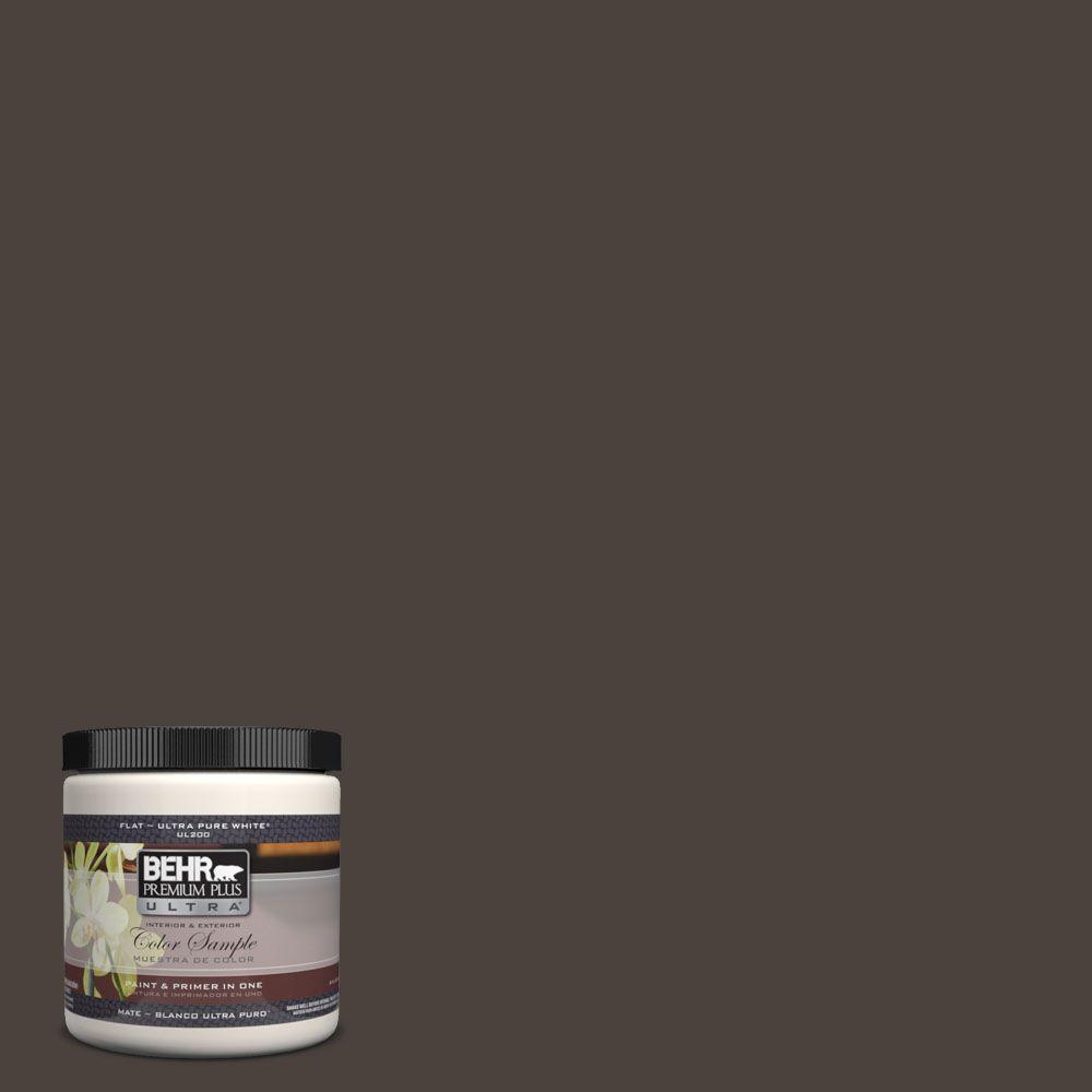 Behr Premium Plus Ultra 8 Oz Ul160 23 Espresso Beans Matte Interior