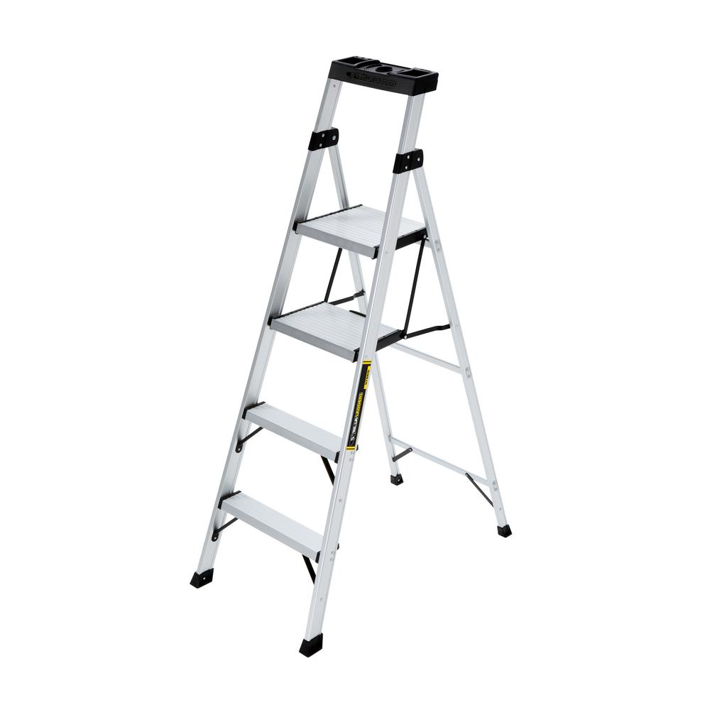 5.5 ft. Aluminum Hybrid Ladder with 250 lb. Load Capacity Type