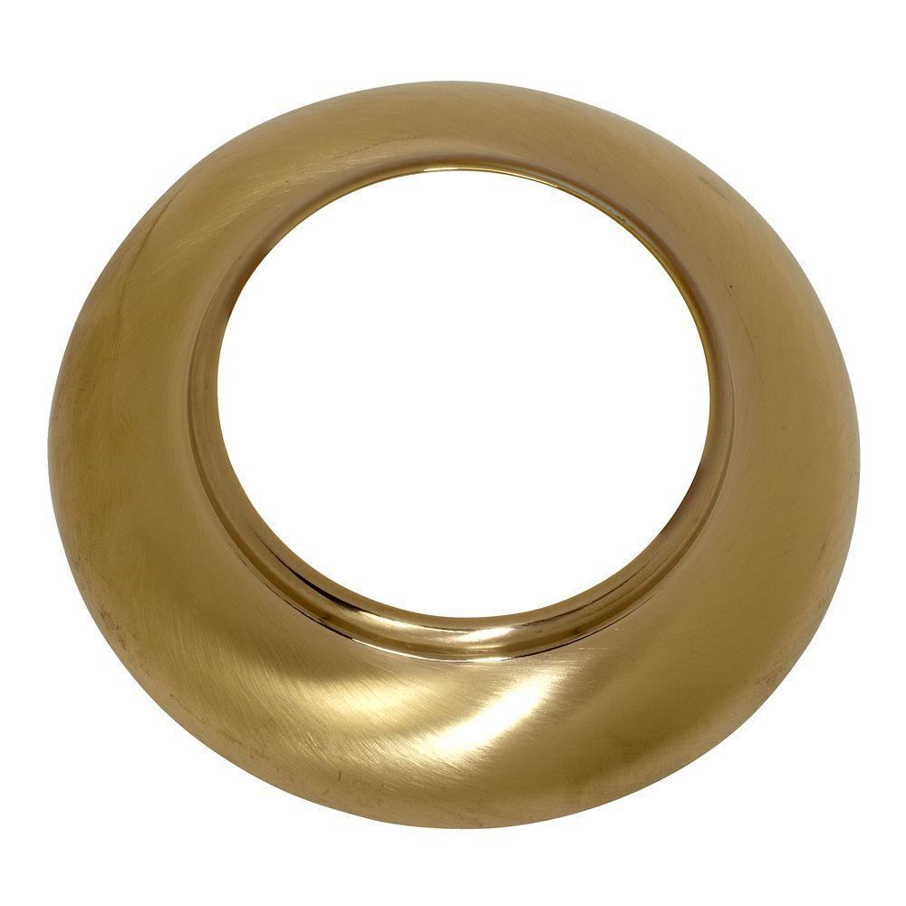 Ariana Spout Escutcheon, Brushed Brass