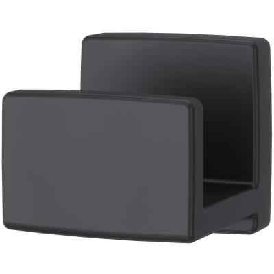 Deckard Single Robe Hook in Matte Black