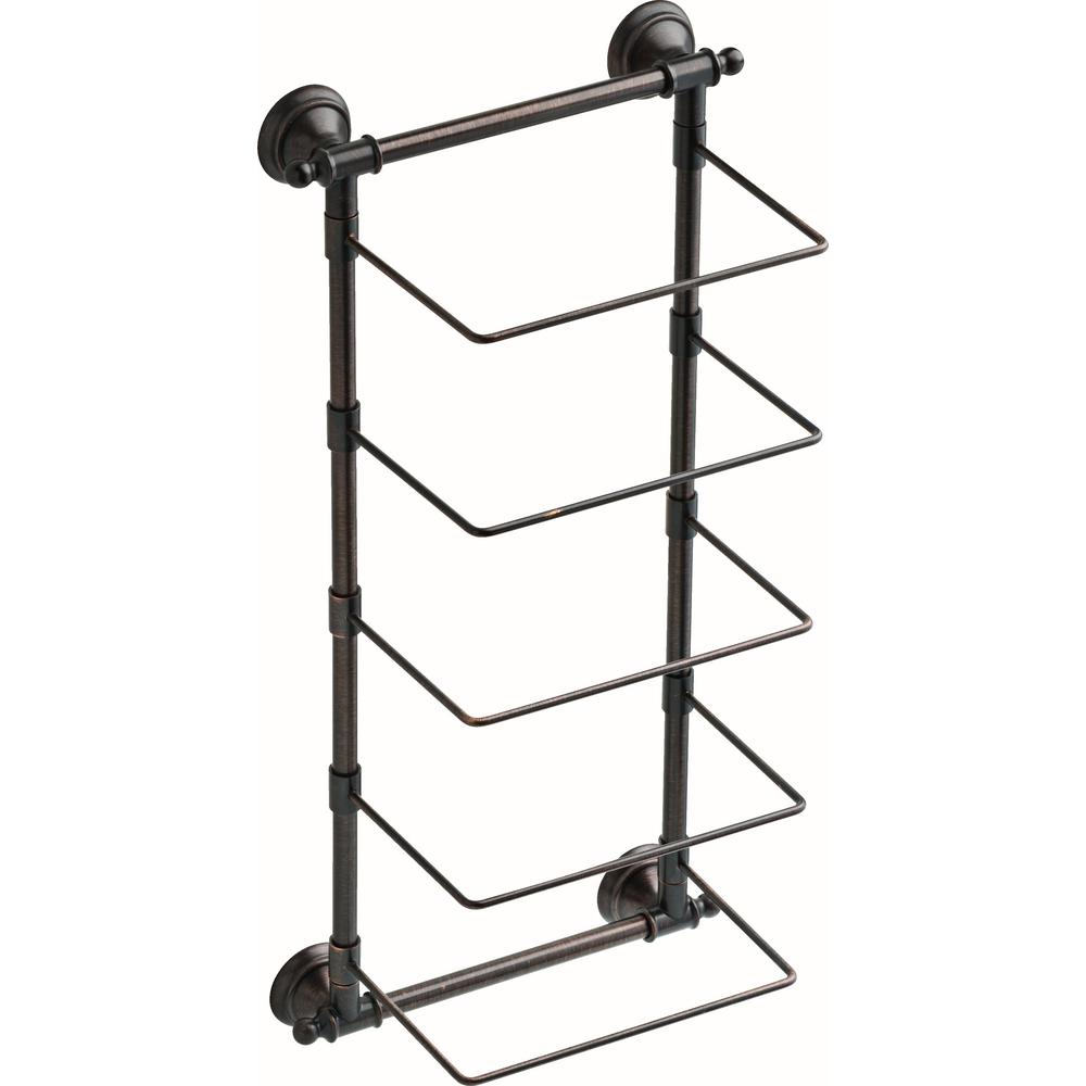 5-Bar Wall-Mounted Towel Rack in SpotShield Venetian Bronze