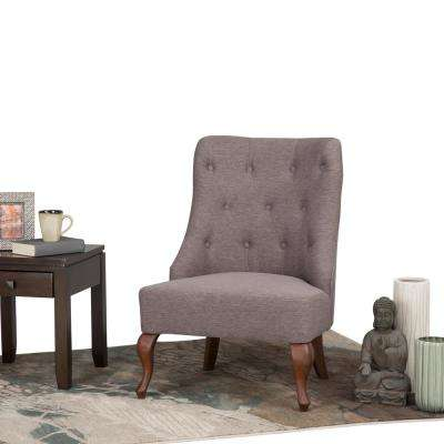 Aston Fawn Brown Fabric Accent Chair