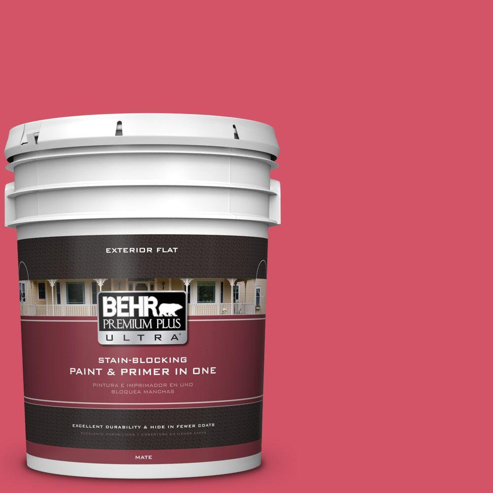 BEHR Premium Plus Ultra 5-gal. #130B-6 Dragon Fruit Flat ...